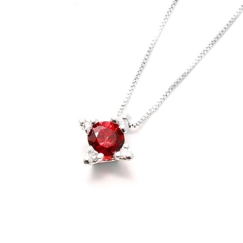 Girocollo Rubino e Diamanti a Stella