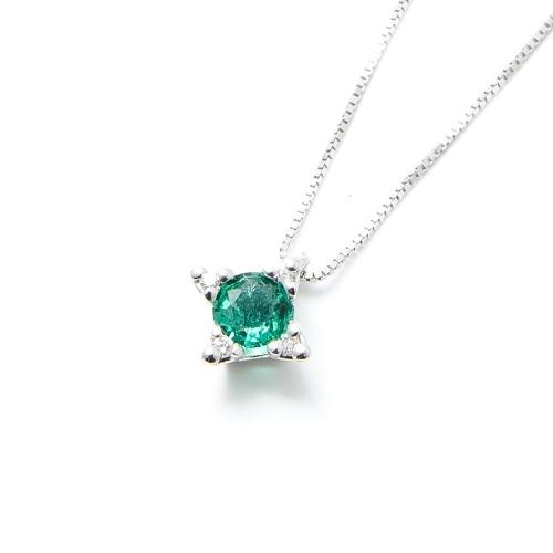 Girocollo Smeraldo e Diamanti a Stella