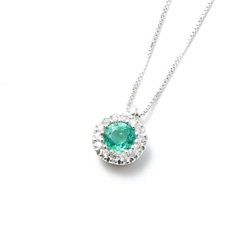 Girocollo Smeraldo rotondo con...