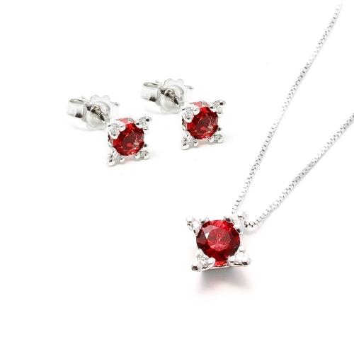 Parure Rubino e Diamanti a Stella