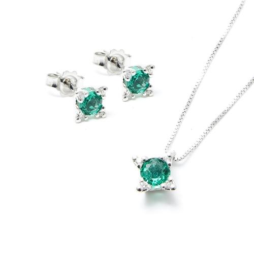 Parure Smeraldo e Diamanti a Stella