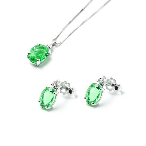 Parure Smeraldo ovale con Diamanti