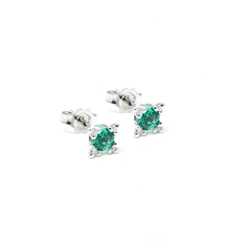 Orecchini Smeraldo e Diamanti a Stella