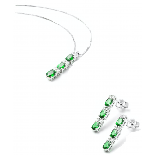 Parure Smeraldo e Diamanti